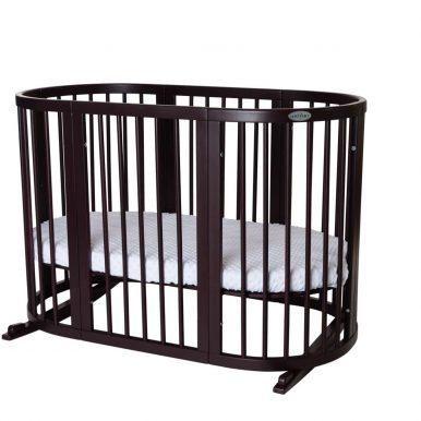 Detská rastúca postieľka SMART BED 9v1 tmavohnedá