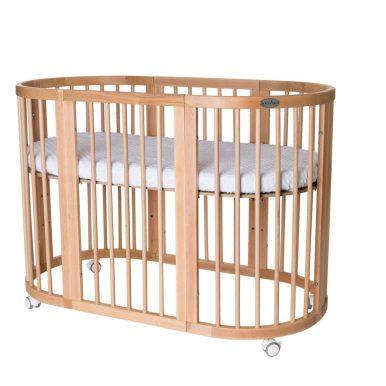 Detská rastúca postieľka SMART BED 9v1 prírodné drevo
