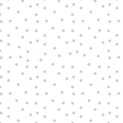 Hviezdičky sivé na bielom