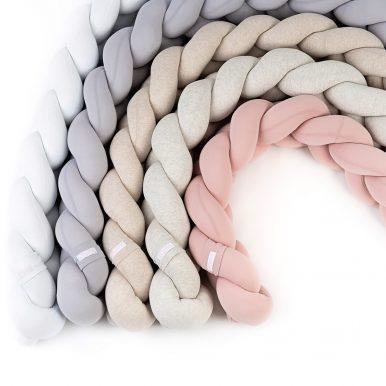 Pletenec – mantinel do detskej postieľky – rôzne farby