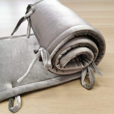 Velvet mantinel do hranatej postieľky 120×60cm