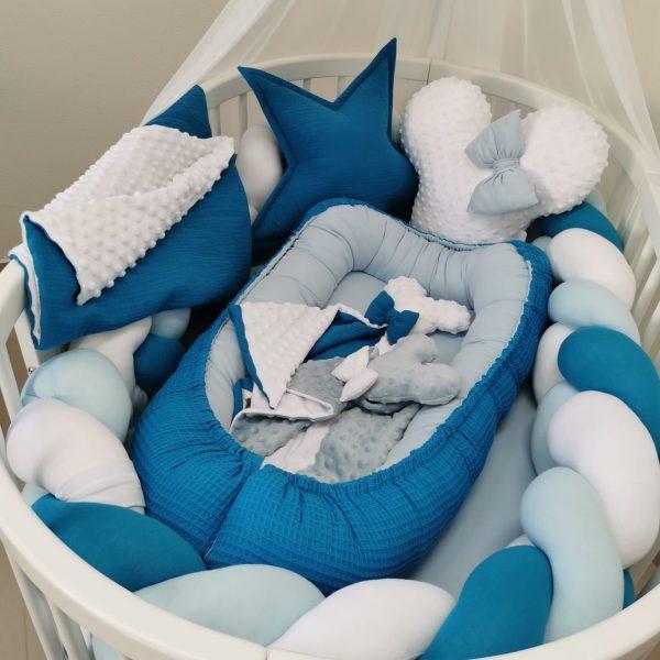 Bielo modré hniezdo z vafle