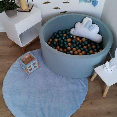 Hrací koberec plyšový Ø120 cm