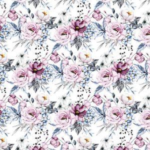 Fialové kvety na bielom