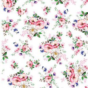 Kytica kvetov na bielom