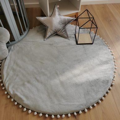 Hrací koberec plyšový s guličkami Ø120 cm