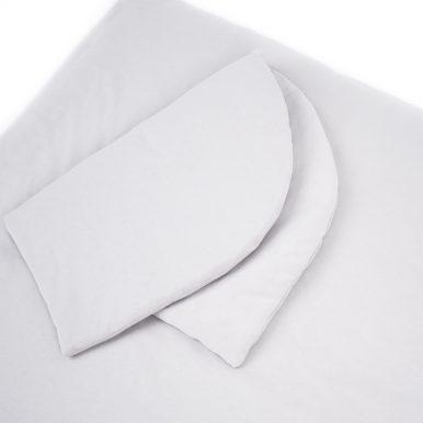 Set bavlnený paplónik a zaoblený vankúš s výplňou