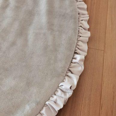 Hrací koberec plyšový s volánikom Ø120 cm