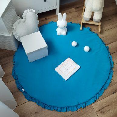 Hrací koberec jednofarebný s volánikom Ø120 cm
