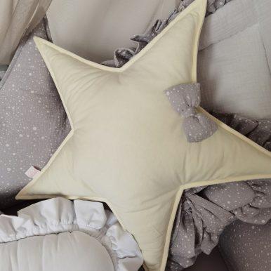 Vankúš Hviezda bavlnená s mašličkou
