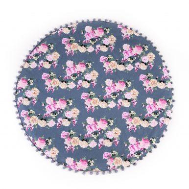 Hrací koberec kvietkovaný s guličkami Ø120 cm
