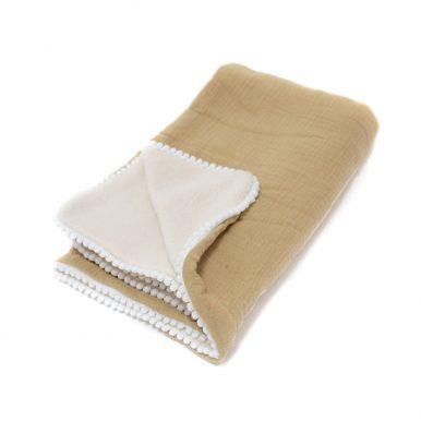 Detská deka Baránok mušelín s guličkami
