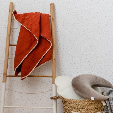Mušelínová deka s guličkami