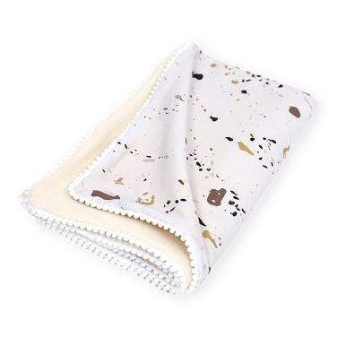 Detská deka Baránok bavlna s guličkami