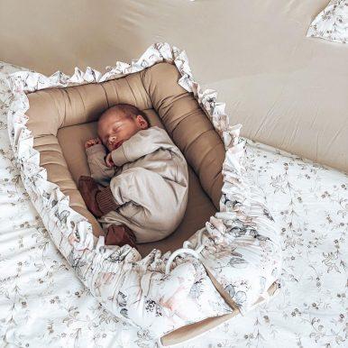 Bavlnené hniezdo s volánom