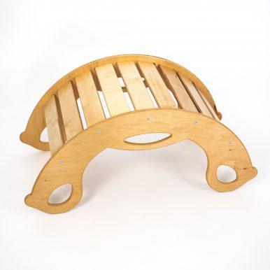 Drevená montessori hojdačka SwingMe – prírodné drevo