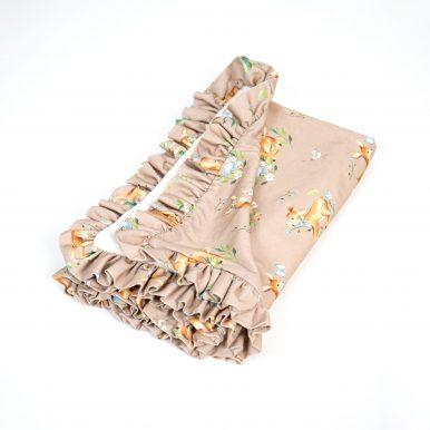 Zateplená bavlnená deka s volánom